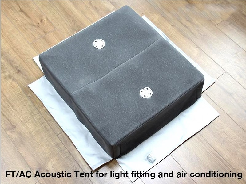 Acoustic Fire hoods for Large Light Fittings