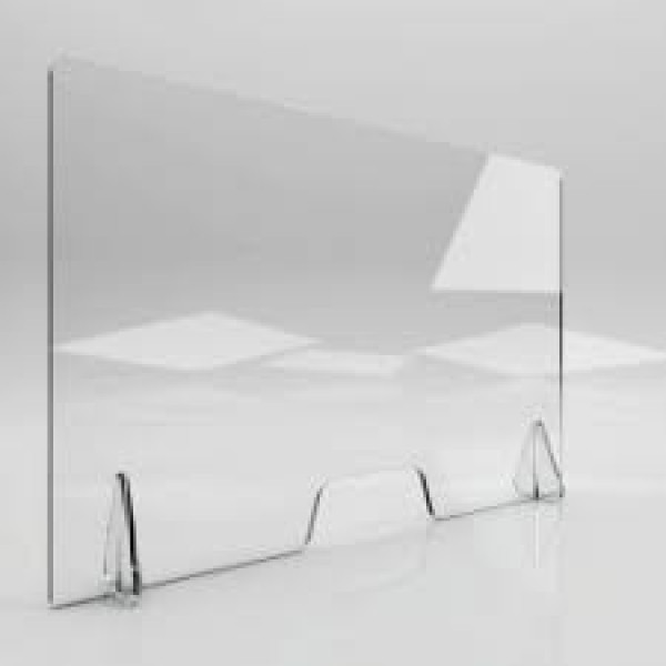 Free Standing Clear Perspex Counter Top  650h X 700w X 5mm