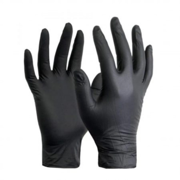 Powder Free Black Nitrile Gloves (100 Gloves)
