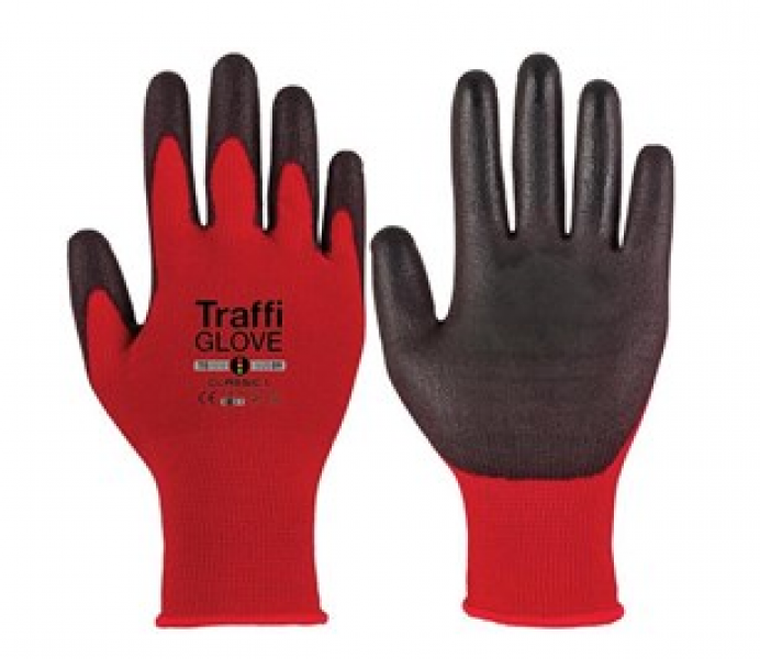 Traffi Gloves Red Size 9